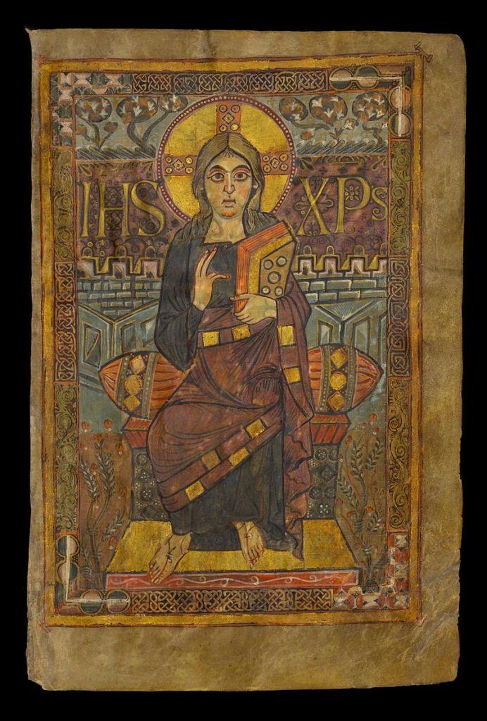 800px-Evangeliarium_-_évangéliaire_dit_de_Charlemagne_ou_de_Godescalc_-_Jésus-Christ_-_BNF_Gallica