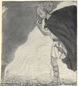 Loki_finds_Gullveigs_Heart_-_John_Bauer