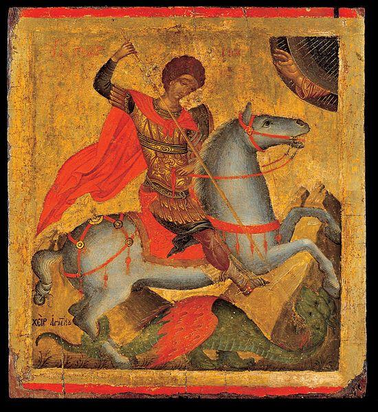 24_Angelos_Akotantos_-_St_George_on_horseback,_slaying_the_dragon,_1425-50