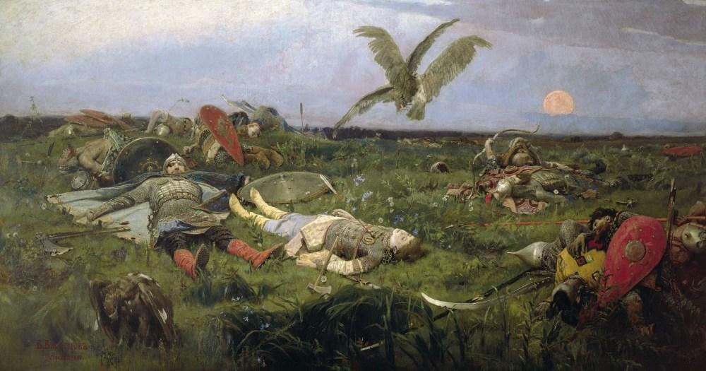 васнецов после побоища игоря святославича с половцами