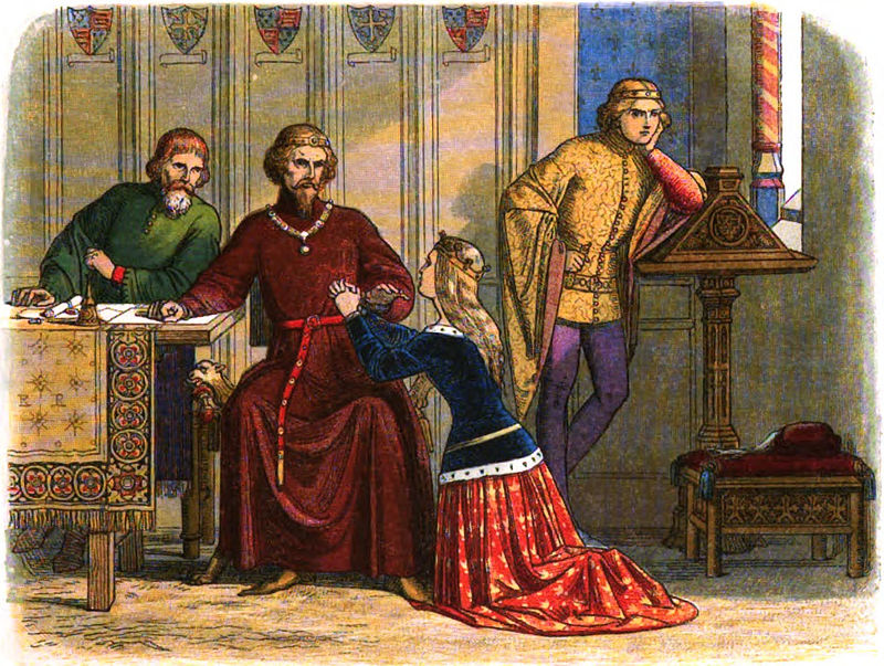 800px-a_chronicle_of_england_-_page_331_-_queen_anne_intercedes_for_sir_simon_burley