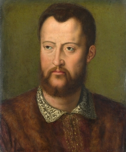 Full title: Portrait of Cosimo I de' Medici, Grand Duke of Tuscany Artist: After Bronzino Date made: probably before 1574 Source: http://www.nationalgalleryimages.co.uk/ Contact: picture.library@nationalgallery.co.uk Copyright © The National Gallery, London