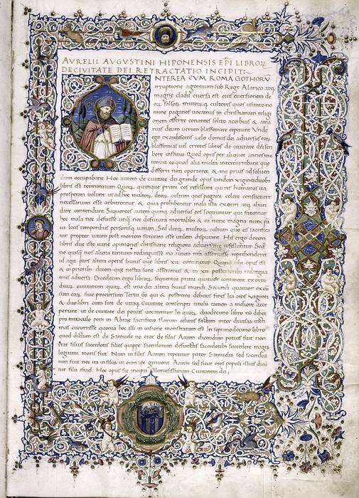 Манускрипт «О граде Божьем», ок. 1470 года