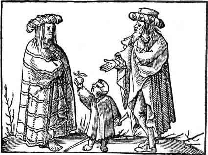 Цыганская семья. Иллюстрация из книги «Универсальная космография», выпущенной в 1554.jpg
