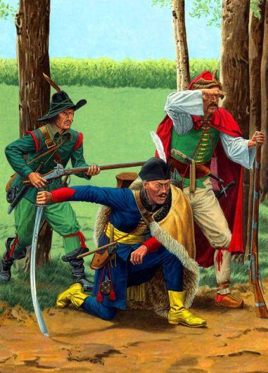 Hungarian Hayduk and Croat Rifleman of the Thirty Years' War.jpg