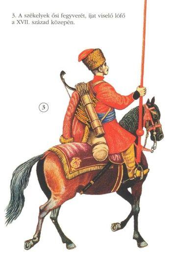 Szekler cavalry, half of the 17th century.jpg