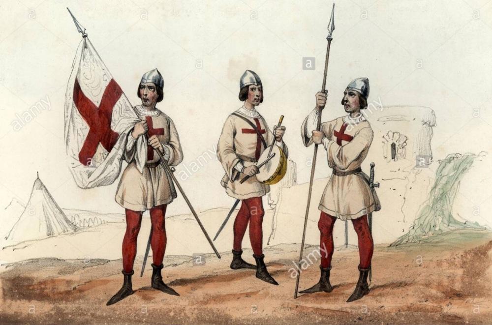 espaa-siglo-xv-soldados-de-la-santa-hermandad-grupo-armado-instituido-por-la-reina-isabel-la-catlica-para-perseguir-criminales-alfrez-abanderado-tambor-y-lancero-grabado-de-1851-P7B001 - копия.jpg